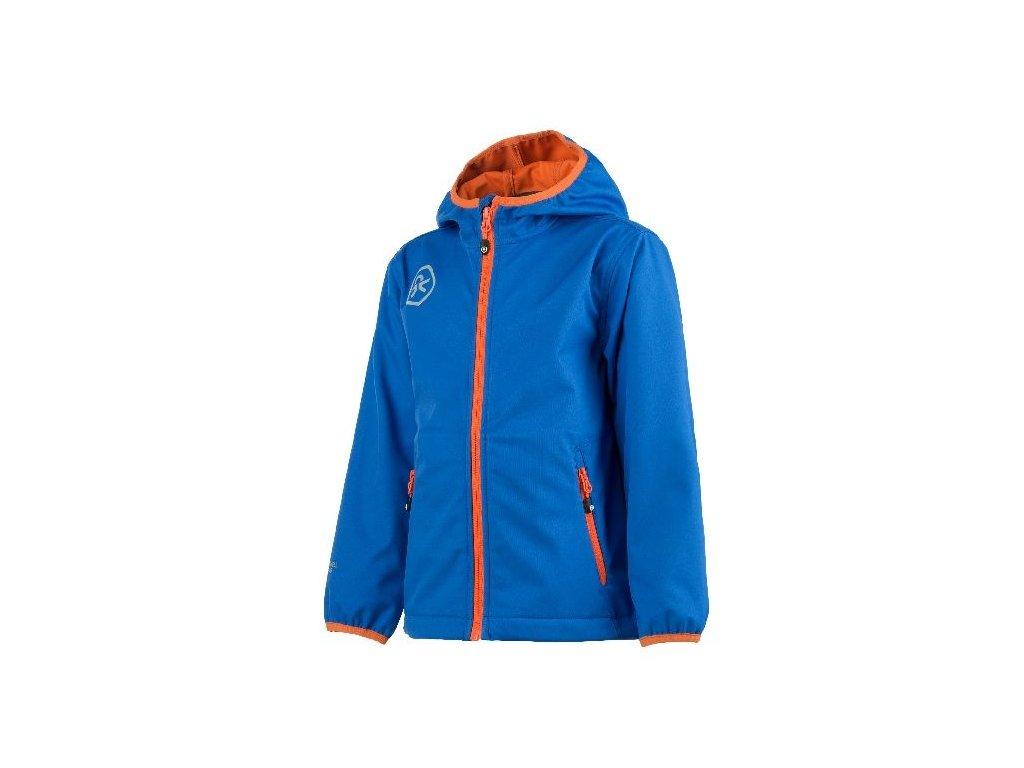 Kvalitní dětská prodyšná jarní softshellová bunda s kapucí a reflexními prvky Color Kids Barkin v modré barvě