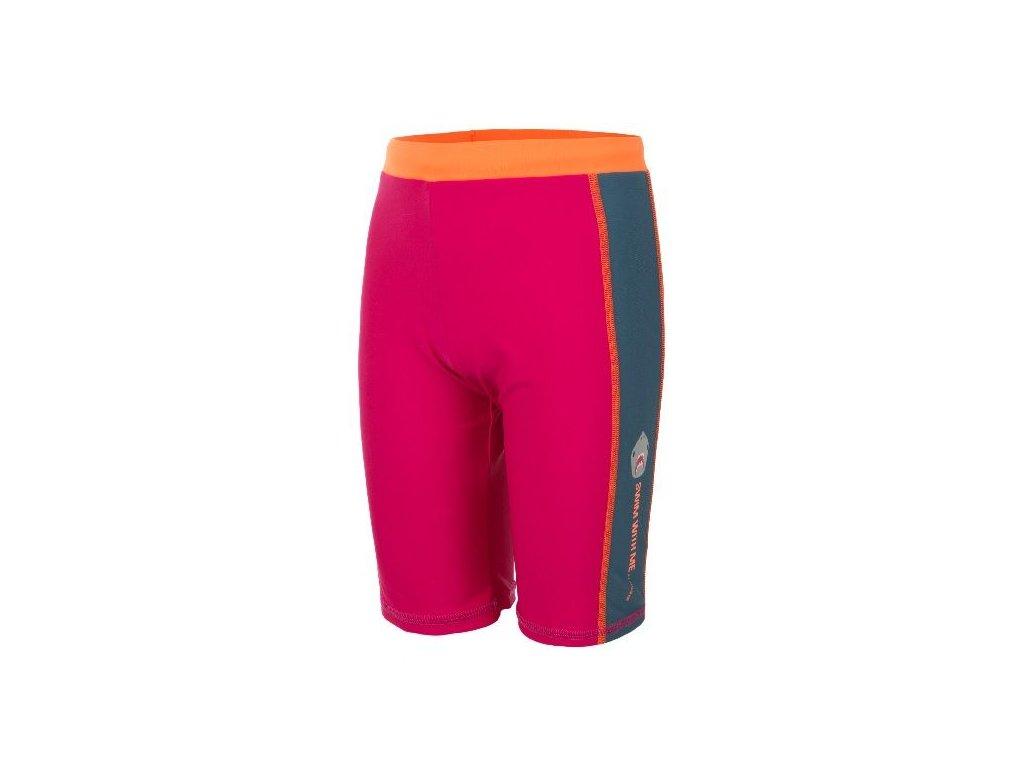 Kvalitní chlapecké rychleschnoucí šortkové plavky s UV ochranou Venke Color Kids UPF 50+ malinové, 116