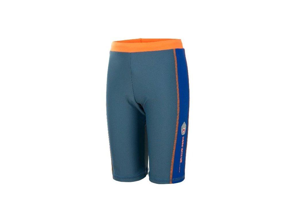 Kvalitní chlapecké rychleschnoucí šortkové plavky s UV ochranou Venke Color Kids UPF 50+ šedé, 116