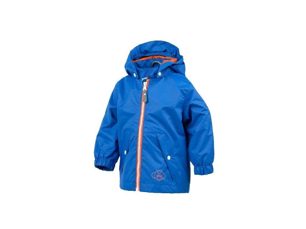 Kvalitní dětská nepromokavá jarní bunda s kapucí a reflexními prvky Color Kids Veelitz mini v modré barvě
