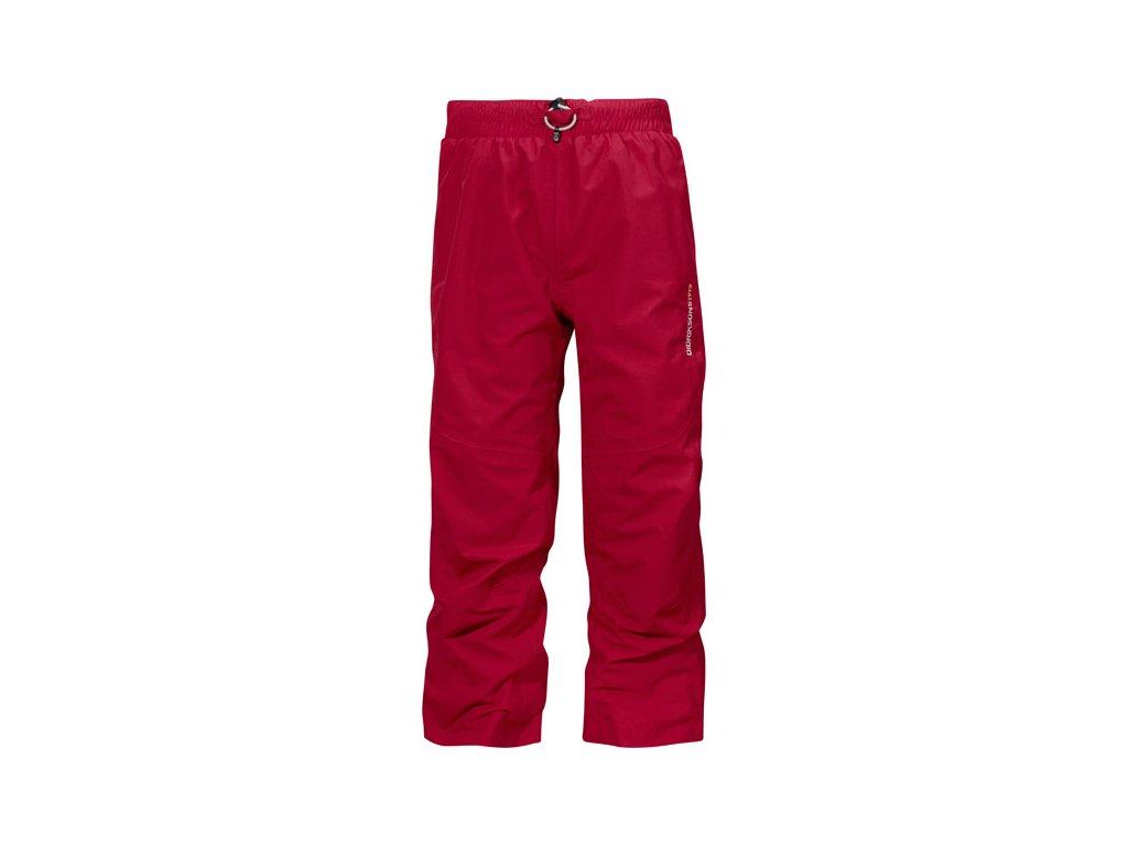 Kvalitní dětské funkční kalhoty pro volný čas Didriksons Nobi v červené barvě