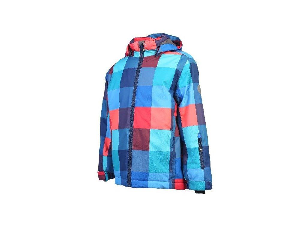 Kvalitní dětská zimní zateplená lyžařská bunda s kapucí a reflexními prvky Color Kids Rialto ski jacket Estate blue v modré barvě