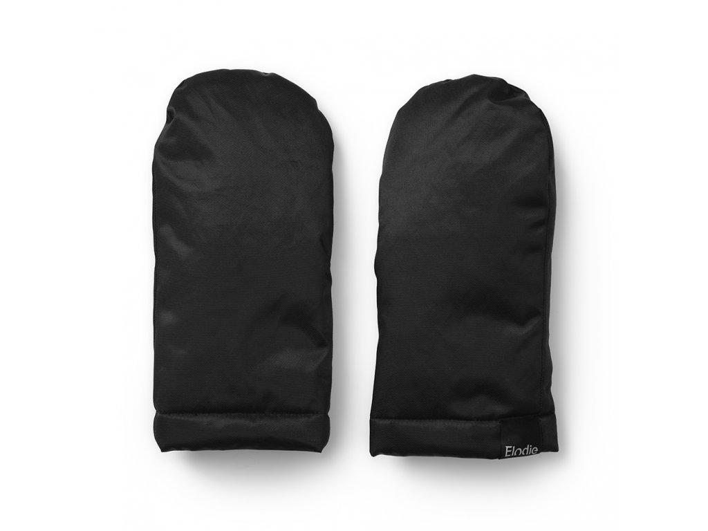 Kvalitní praktické hřejivé rukavice na rukojeť kočárku Elodie Details Black Edition v černé barvě