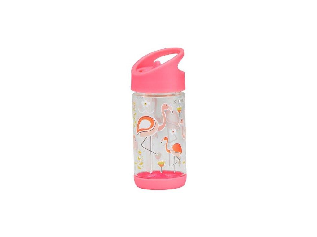 Kvalitní dětská lahvička s karabinou je vyrobena z vysoce kvalitního tritanu Sugarbooger Flip and Sip - Flamingo v růžové barvě