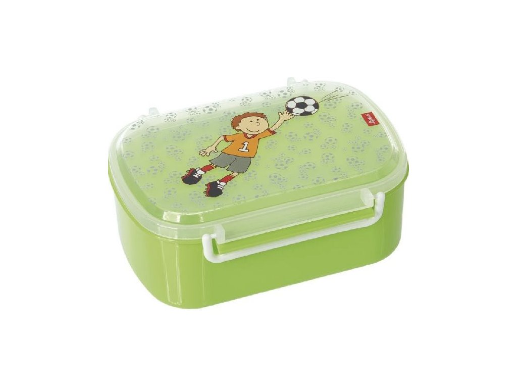 Kvalitní dětská plastová krabička na svačinu s druhou odjímatelnou krabičkou na ovoce Sigikid Kily Keeper v zelené barvě