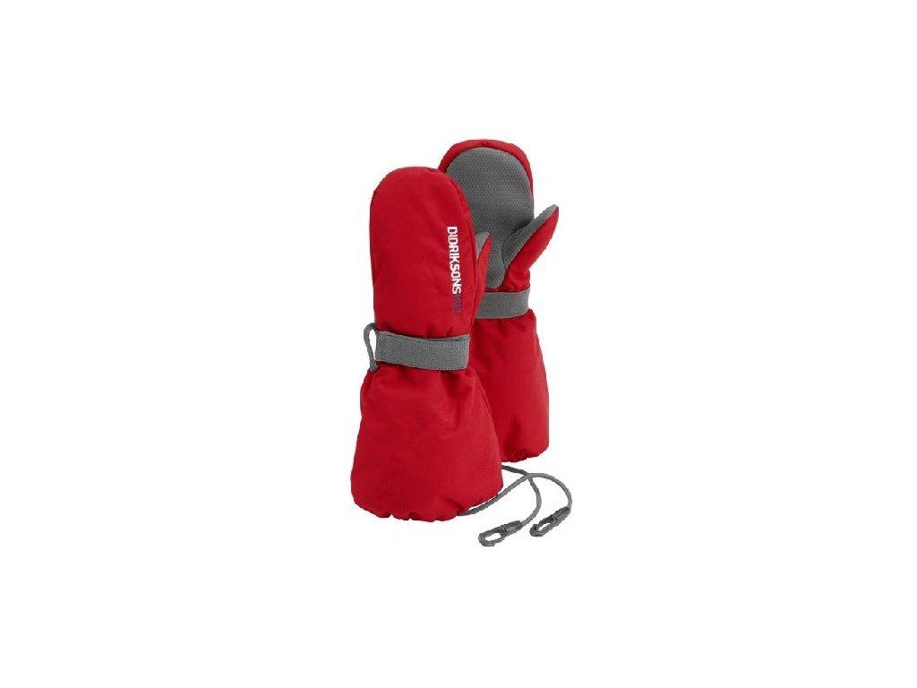 Kvalitní dětské zimní nepromokavé rukavice palčáky Didriksons Biggles v červené barvě