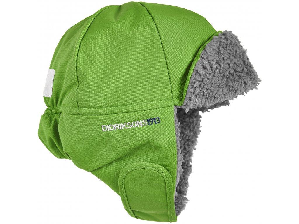 Dětská ušanka Didriksons Biggles zelená