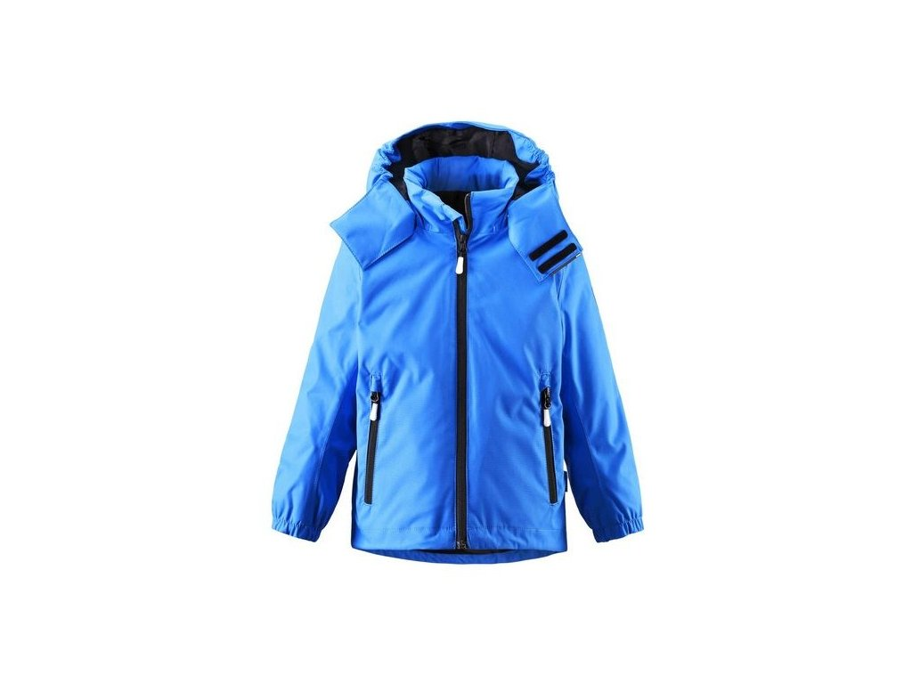 Kvalitní dětská nepromokavá bunda s membránou, kapucí a reflexními prvky Reima Roundtrip - blue v modré barvě