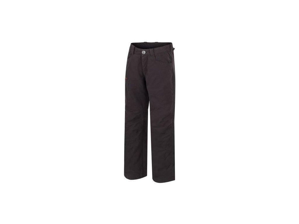 Kvalitní dětské zateplené kalhoty Hannah Winston JR v antracitové barvě