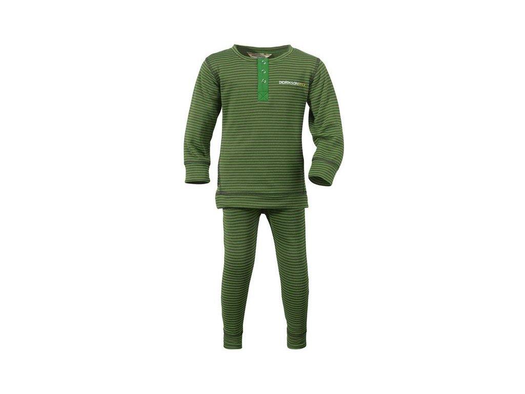 Dětské termoprádlo set Didriksons Moarri - tmavě zelená