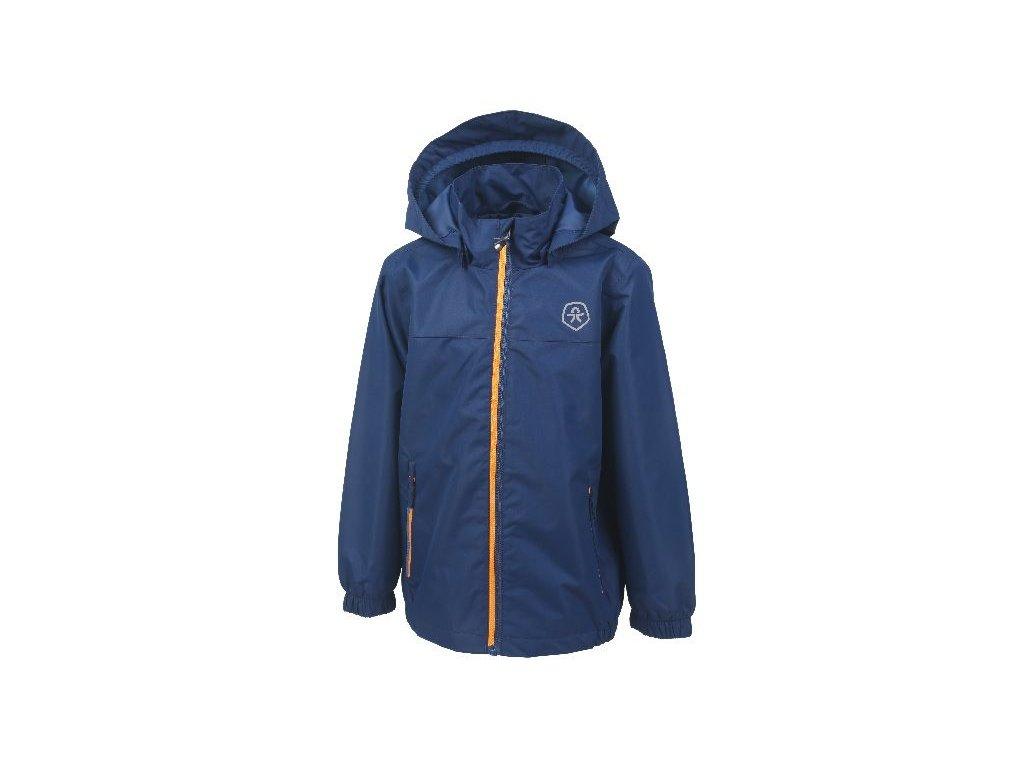 Kvalitní dětská nepromokavá bunda s membránou, kapucí a reflexními prvky Color Kids Thinus - Estate blue v tmavě modré barvě