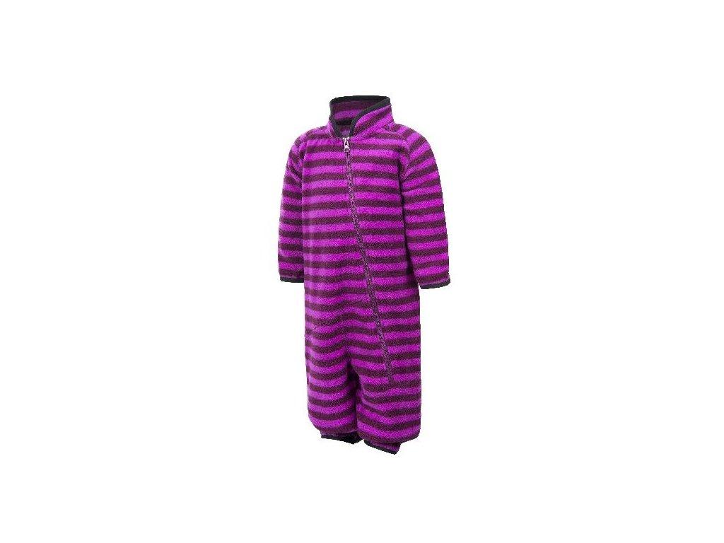 Color Kids Rilion mini fleece suit Dark Purple