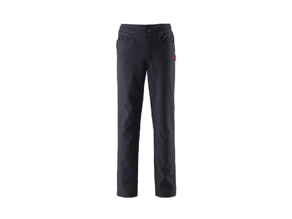 Kvalitní dětské lehké softshellové kalhoty Reima Idea v černé barvě