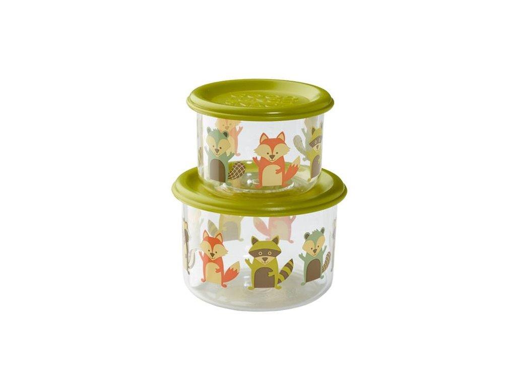 Kvalitní dětský set dvou svačinových krabiček bez BPA Sugarbooger Good Lunch snack containers - What did the Fox Eat