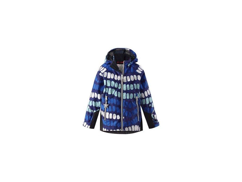 Kvalitní dětská chlapecká nepromokavá jarní bunda s membránou, kapucí a reflexními prvky Reima Kiddo Segel - ultramarine v modré barvě