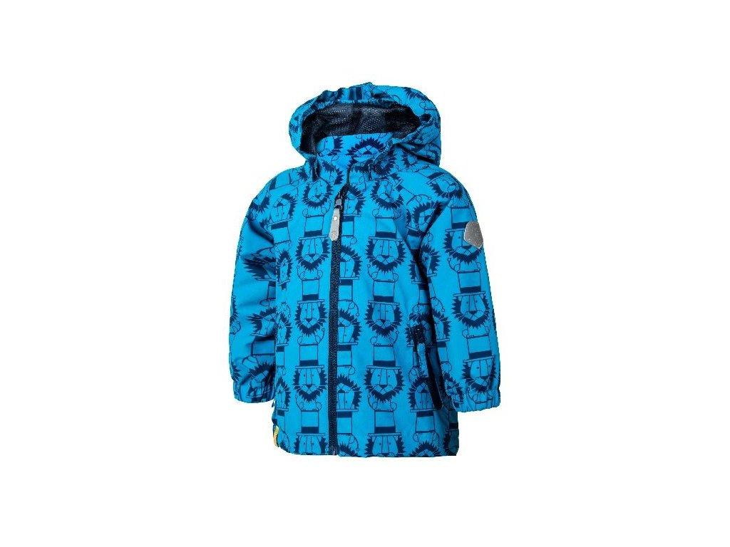 Kvalitní dětská prodyšná jarní softshellová bunda s kapucí a reflexními prvky Color Kids Veast mini - Diva blue v modré barvě