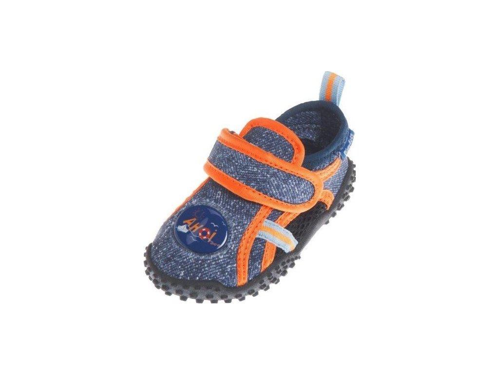 Kvalitní dětské lehké a prodyšné boty do vody Playshoes džínové