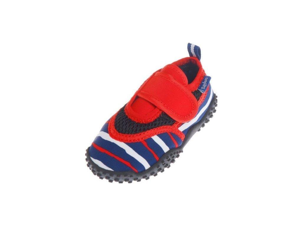 Kvalitní dětské lehké a prodyšné boty do vody Playshoes modro-bílý proužek