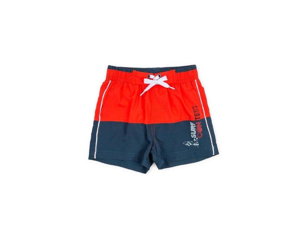 Kvalitní chlapecké rychleschnoucí šortkové plavky s UV ochranou Losan modro-červené