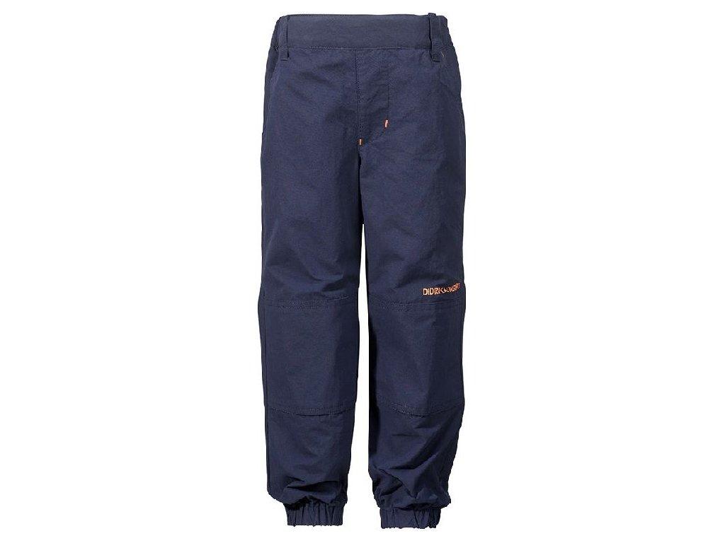 Kvalitní dětské funkční kalhoty pro volný čas Didriksons v tmavě modré barvě