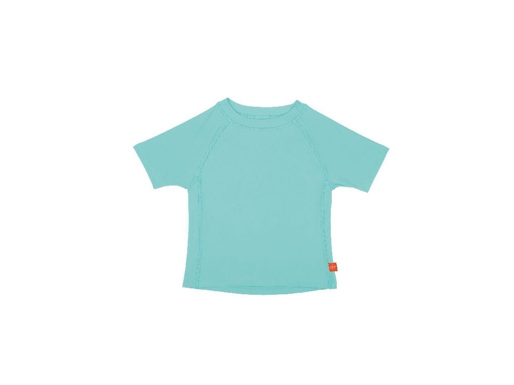 Kvalitní dětské UV tričko s krátkými rukávy a UPF 50+ Lassig Rashguard short sleeve girls Aqua v tyrkysové barvě
