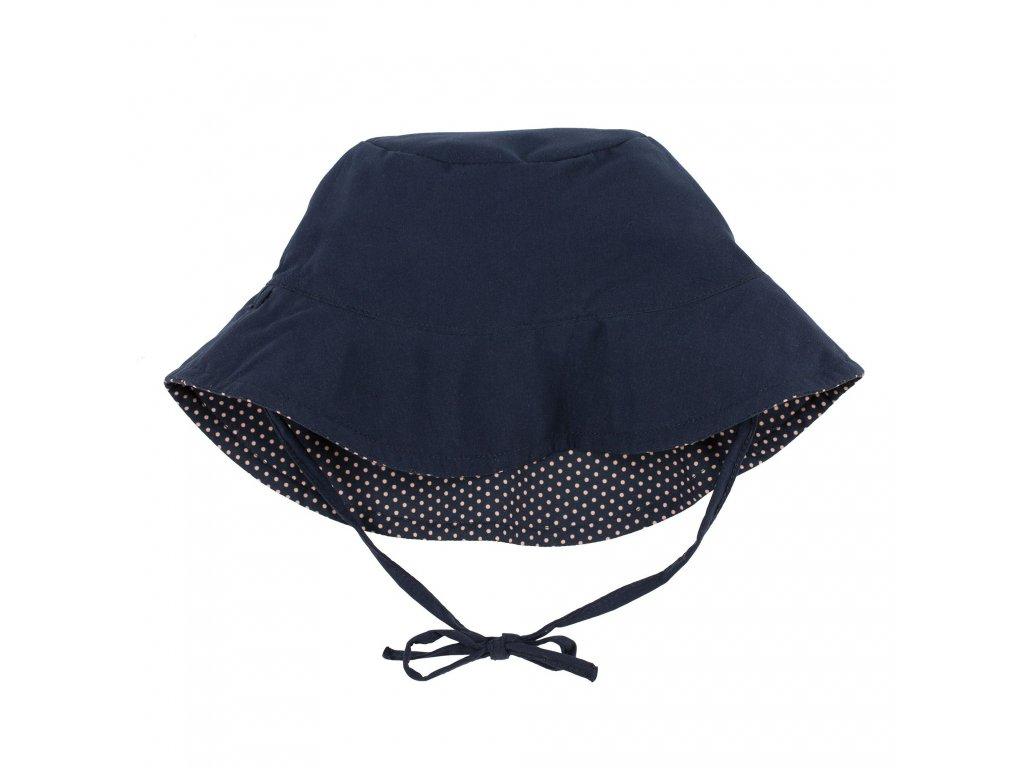 Reversible Bucket Hat Polka Dots navy