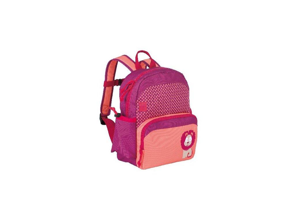 Kvalitní nylonový, komfortní a propracovaný dětský batoh pro předškoláky Medium Backpack Big kids Wildlife Lion ve vínové barvě