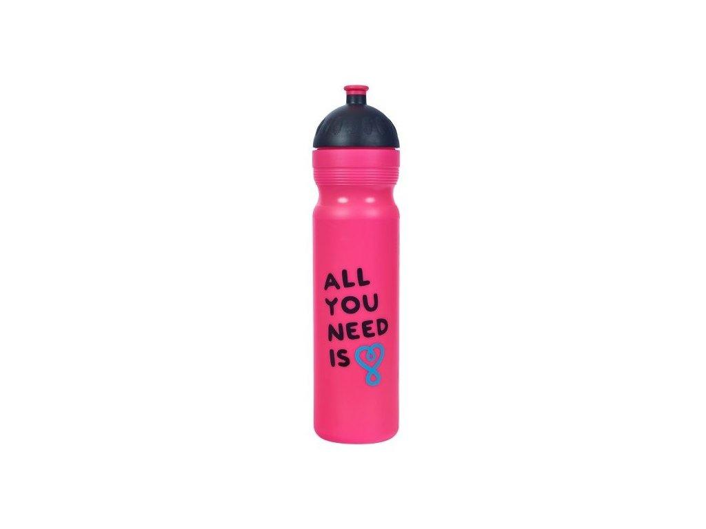 Zdravá láhev UAX All you need růžová 1,0 l