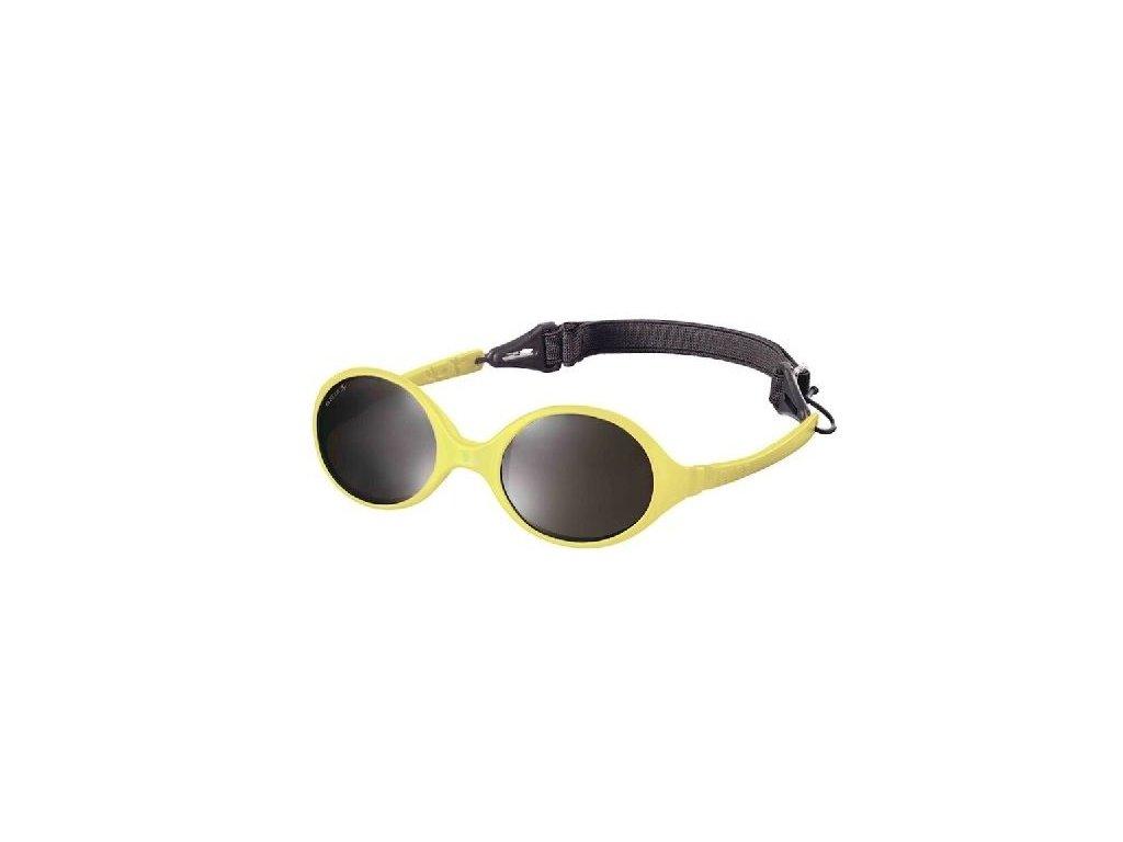 Kvalitní dětské sluneční brýle pro batolata s ochranou před UVA i UVB zářením KiETLA Diabola 0-18 m ve žluté barvě