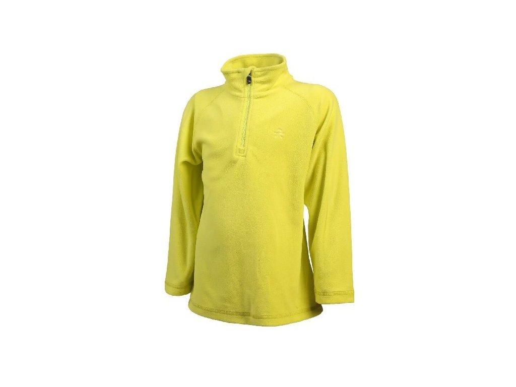 Kvalitní dětská hřejivá jarní fleecová mikina Color Kids Sandberg fleece Neon yellow ve žluté barvě