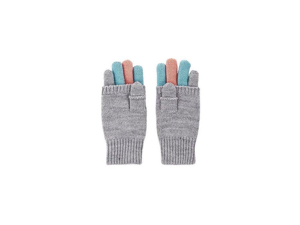 Kvalitní dětské zimní pletené rukavice Maximo v šedé barvě