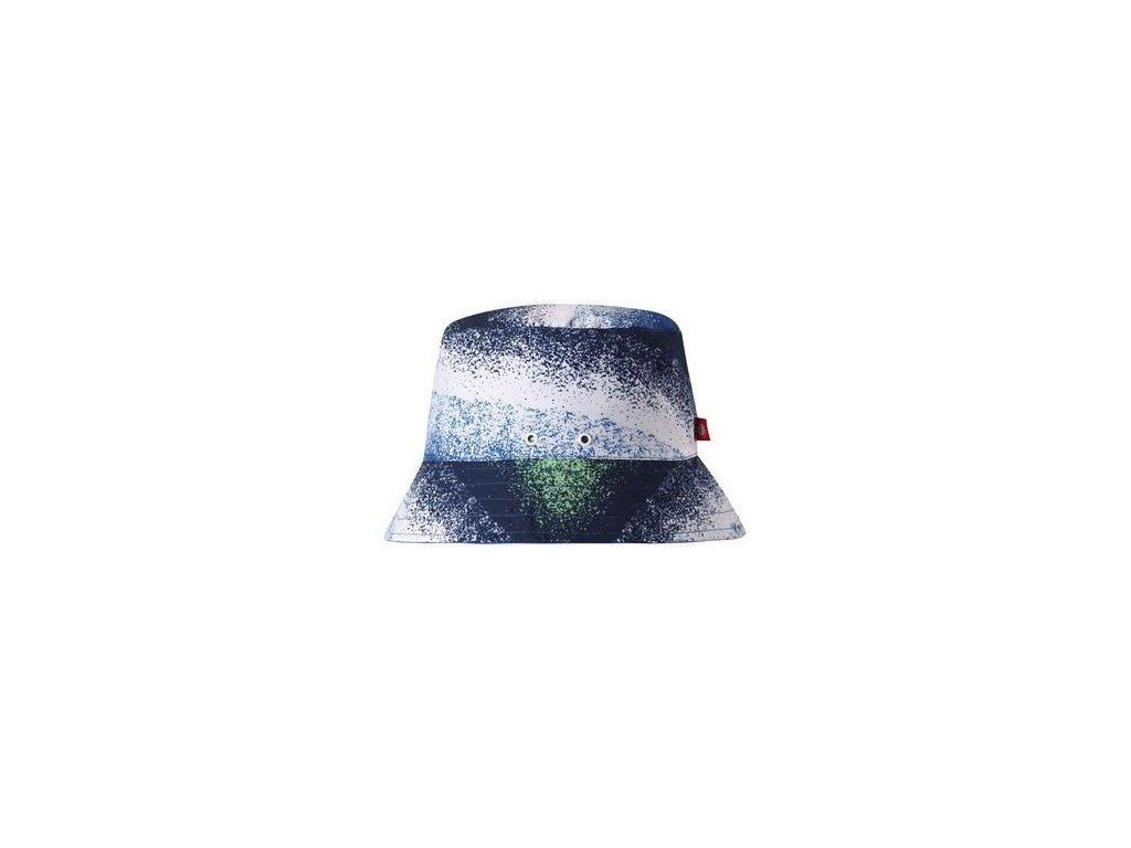 Kvalitní dětský oboustranný klobouček s UV ochranou Reima Viehe - Blue v modré barvě