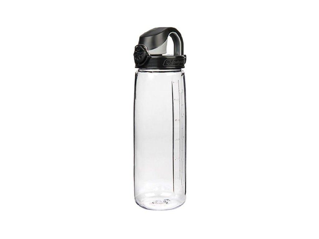 Nalgene dětská láhev OTF 650 ml čirá - černé víčko