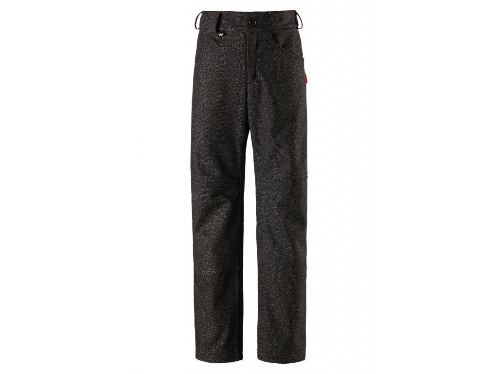 Kvalitní dětské lehké softshellové kalhoty s reflexními prvky Reima Mighty dark grey v tmavě šedé barvě