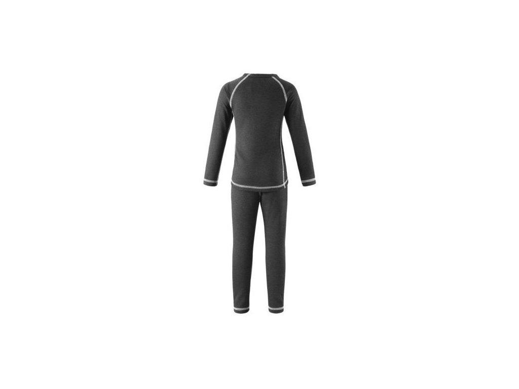 Kvalitní dětské teplé a příjemné funkční prádlo Reima Lani sparrow grey v šedé barvě