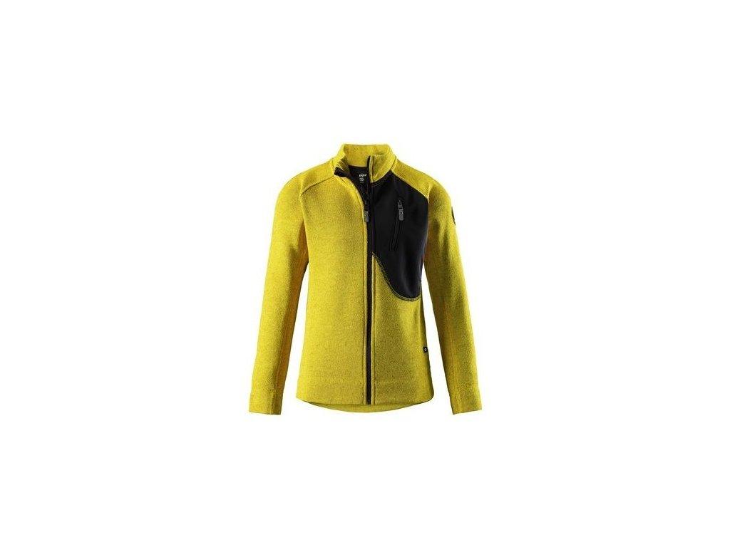 Dětská fleecová mikina Agosto yellow