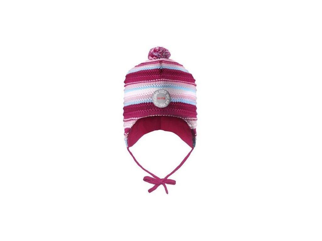 Dětská čepice Reima Kumpu Berry stripes