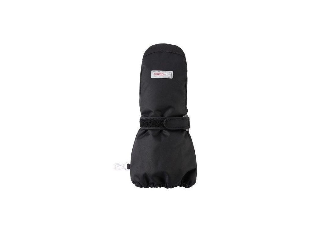 Kvalitní dětské zimní nepromokavé rukavice palčáky Reima Ote black /2017/ v černé barvě