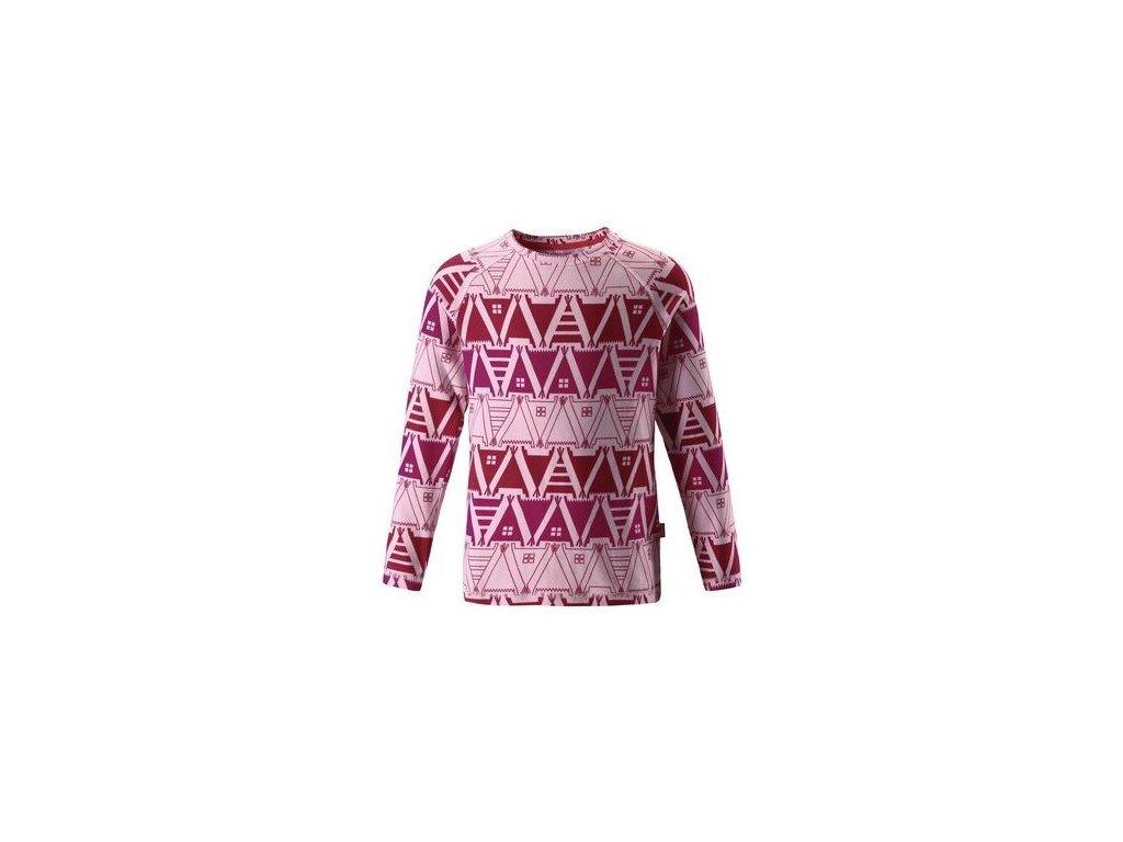 Kvalitní dětské teplé a příjemné funkční tričko s dlouhým rukávem a UV ochranou Reima Tiptoe Pale rose v růžové barvě