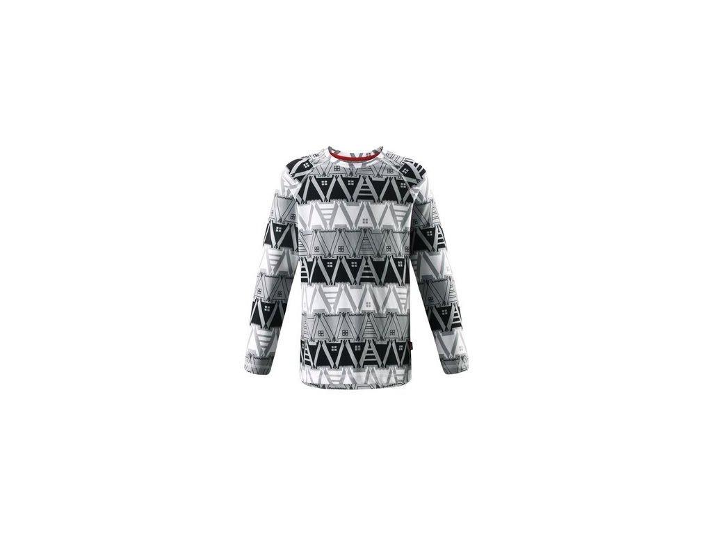 Kvalitní dětské teplé a příjemné funkční tričko s dlouhým rukávem a UV ochranou Reima Tiptoe black v černé barvě