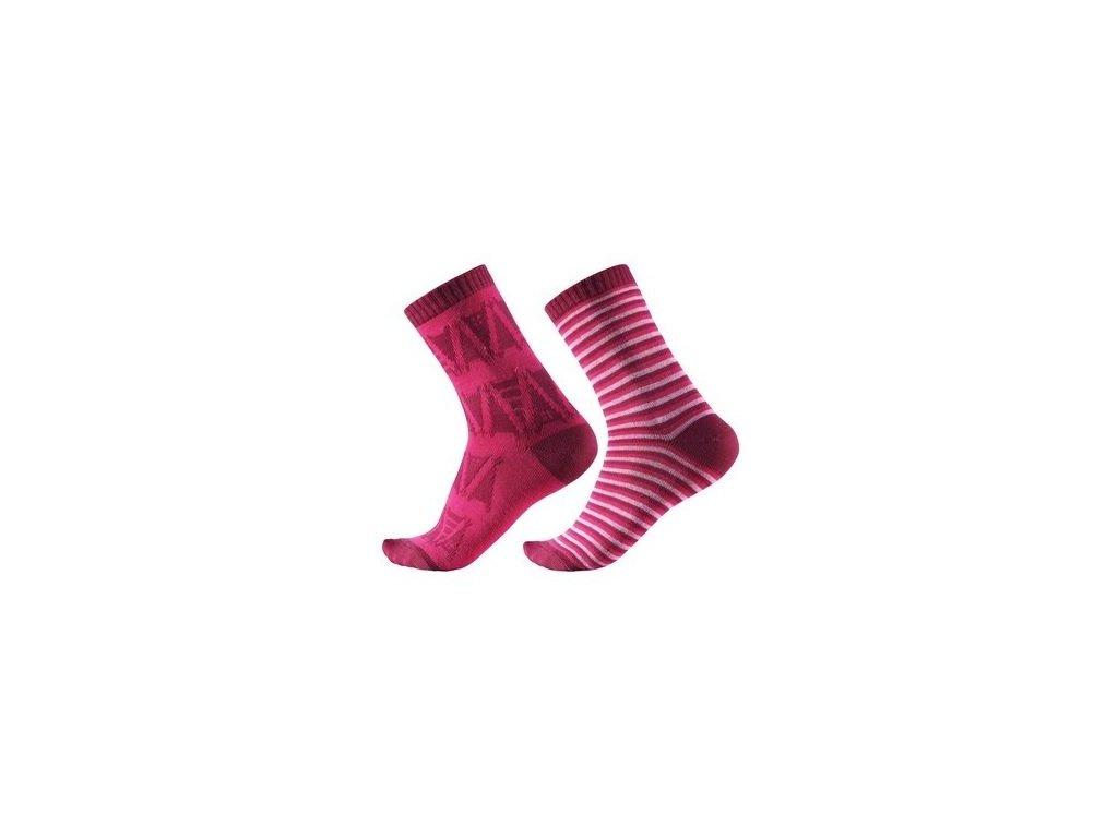 Kvalitní dětské vlněné zimní ponožky Reima Sturm v růžové barvě