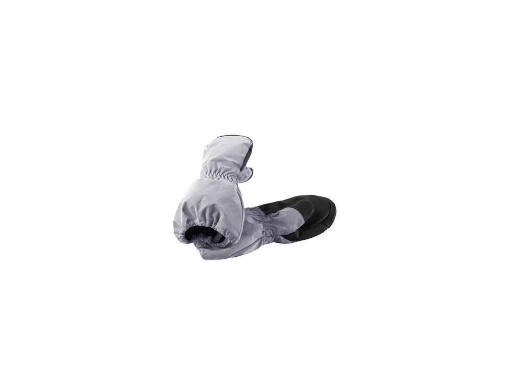 Kvalitní dětské zimní nepromokavé rukavice palčáky Reima Vilkku Dark silver ve stříbrné barvě