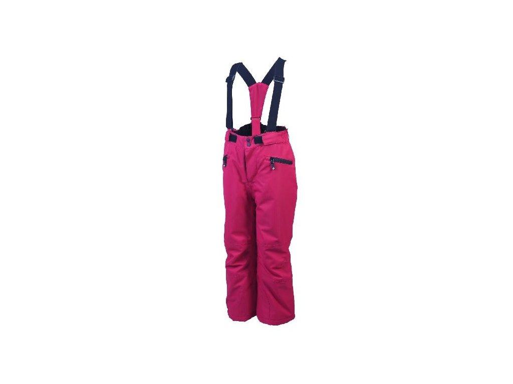 Kvalitní dětské zimní oteplovačky vhodné na lyže nebo zimní dovádění ve sněhu Color Kids Sanglo ski pants Rasberry ve vínové barvě