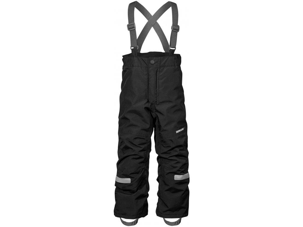 Kvalitní dětské zimní lyžařské kalhoty D1913 IDRE v černé barvě