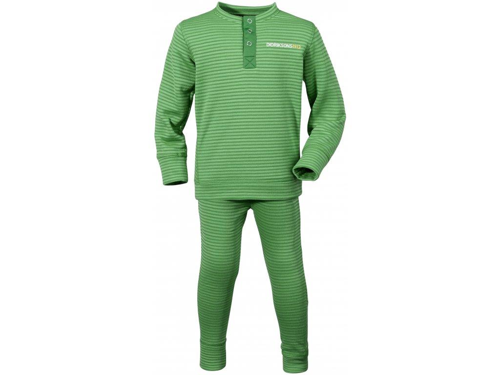 4d6074d6cf1 Kvalitní dětské teplé a příjemné funkční prádlo Didriksons Moarri v zelené  barvě