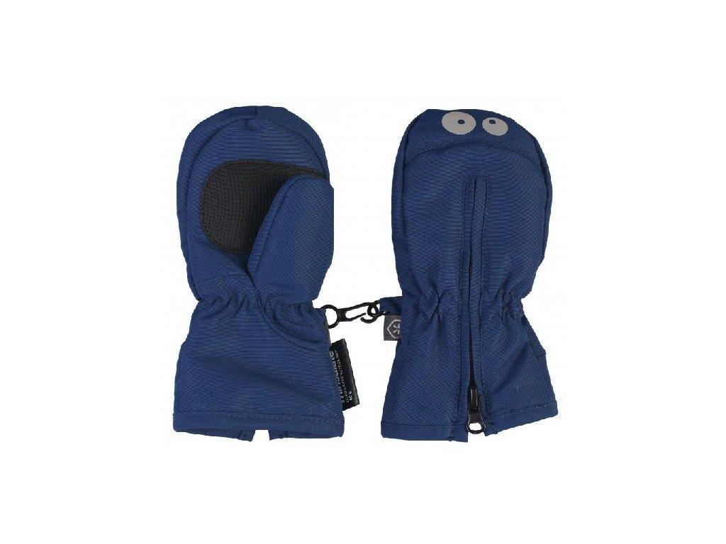 Kvalitní dětské batolecí zimní palčáky s fleecovou podšívku Color Kids Kompin Estate Blue v tmavě modré barvě