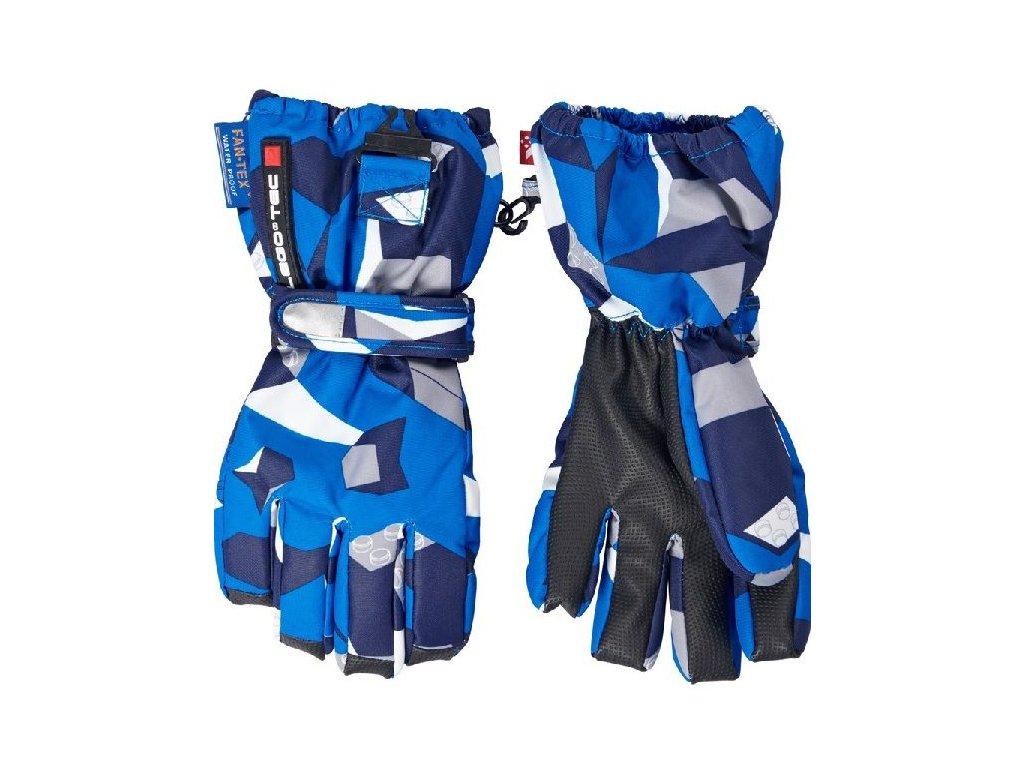Kvalitní dětské zimní nepromokavé rukavice prstové LEGO® Wear Alexa 772 v  modré barvě 334661cee0