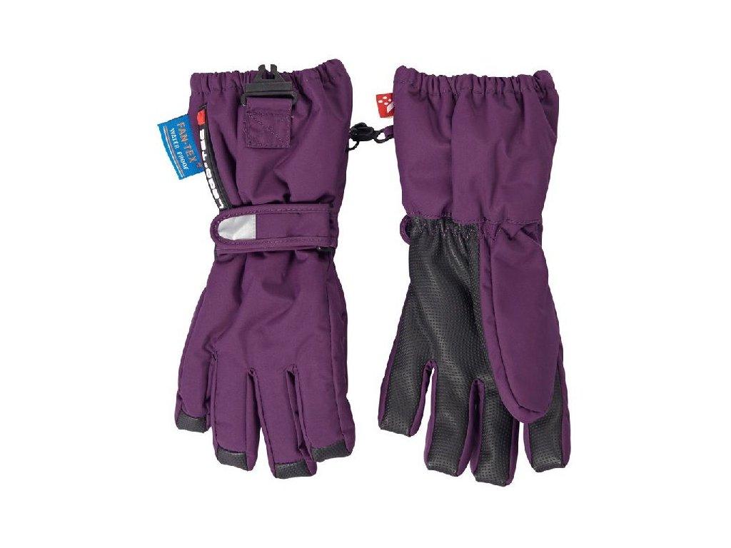 Kvalitní dětské zimní nepromokavé rukavice prstové LEGO® Wear Alexa 771 v tmavě fialové barvě