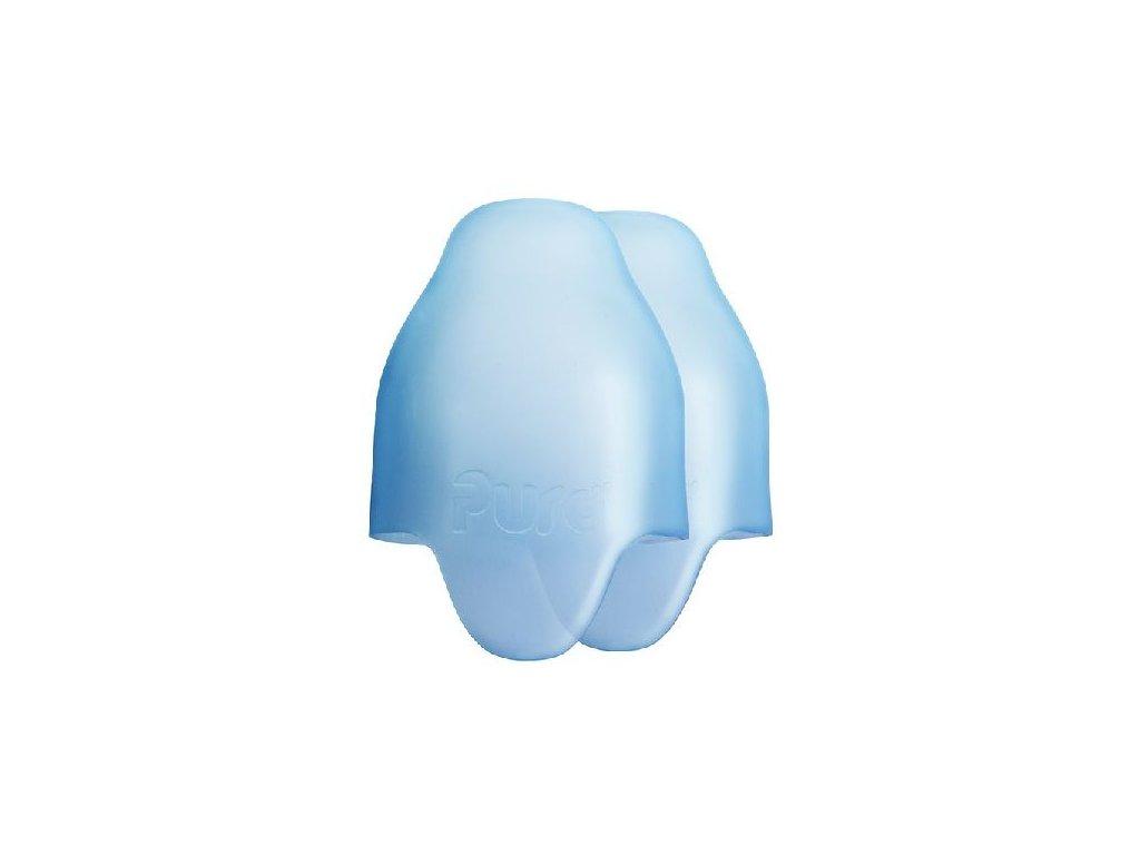Kvalitní silikonová víčka (2ks) bez PBA a PVC pro lahve Pura v modré barvě