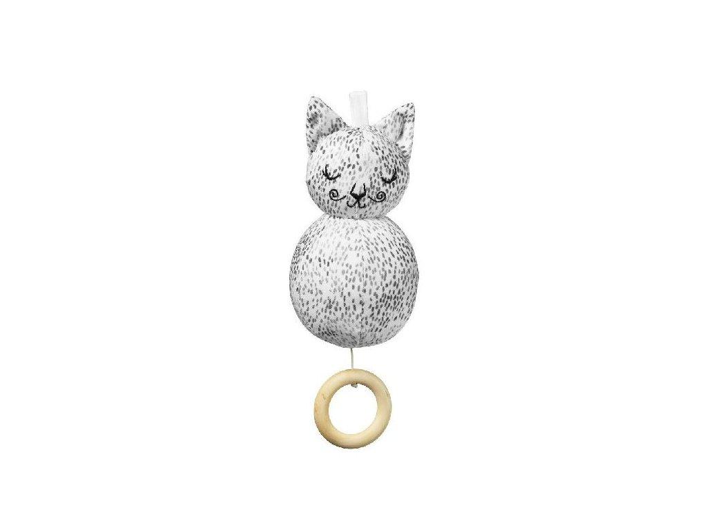Kvalitní dětská hudební hračka ve tvaru kočičky Elodie Details - Dots of Fauna Kitty